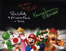 CHARLES MARTINET~SAMANTHA KELLY+1 Signed Super Mario Bros. 11x14 photo JSA COA