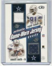 EMMITT SMITH 2001 PACIFIC QUAD JERSEY CARD DALLAS COWBOYS