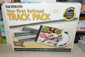 HO scale Bachmann 44596 EZ track nickel silver set layout curve straight switch