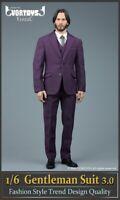 VORTOYS 1/6 V1022C Gentleman Suit Clothes Toy Fit 12'' Male Action Figure Body