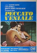 manifesto 2F originale PECCATO VENIALE Laura Antonelli Alessandro Momo 2a ediz.