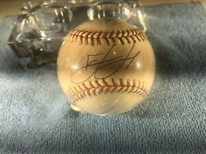 David Ortiz Game Used Autographed Baseball.  Cert by Steiner & MLB