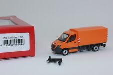 Herpa 095044 Mercedes-Benz Flatbed/Tarpaulin, Communal Orange 1:87 H0