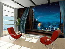 Magic Window Wall Mural Photo Wallpaper GIANT DECOR Paper Poster Free Paste