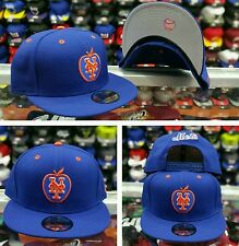New Era MLB New York Mets Apple Logo blue orange 9fifty snapback Hat Cap