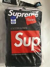Supreme®Hanes®Boxer Briefs ( 4 Pack) - Black/Large 100% Authentic
