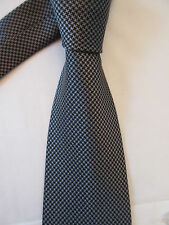 GEORGE GREY BLACK 3.5 INCH POLYESTER NECK TIE