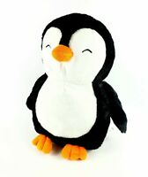 "TOYS R US BLACK & WHITE PENGUIN  STUFFED ANIMAL PLUSH TOY SOFT LOVEY 14"" LARGE"