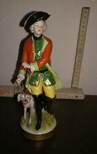 Porzellanfigur ~ JÄGER mit HUND ~ Aelteste Volkstedter Porzellanmanufaktur