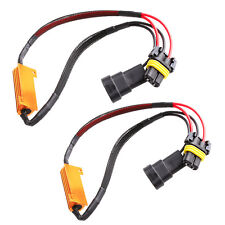 2X 9005/9006 50W LED Error Free Canbus Fog Load Resistors Wiring Harness Decoder