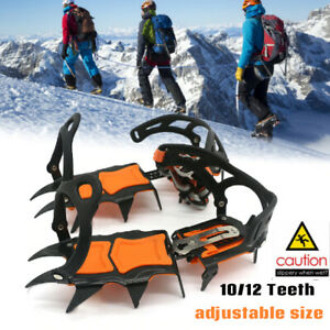 Winter Ice Snow Anti Slip Grips Grippers Crampons Walk Cleats Shoes Spike Boots