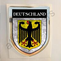 Aufkleber Deutschland Kfz-Aufkleber Wappen Emblem Flagge 3D Dreckig Fahne Harz