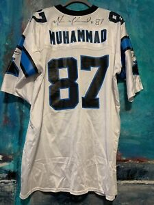 Vtg Autographed Muhsin Muhammad Carolina Panthers Signed NFL Reebok Jersey Sz XL