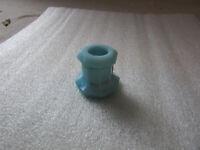 Antique VTG Blue Milk Glass Large Hole Knob Dresser Cabinet Drawer Hardware