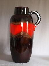 Scheurich Europ Linie FAT LAVA Volcanic Glaze Boden-Vase 420-54 German Pottery