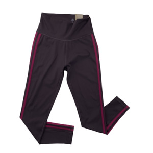 Adidas Women's Believe This 3-Stripe 7/8 Length High Rise Tights Gym Purple Sz S