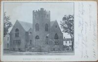 Howell, MI 1908 Postcard: Evangelical Church - Michigan Mich