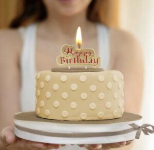 Happy Birthday Geburtstagskerzen Gold Kerze Geburtstag Candle Party Feier Torte