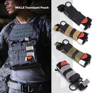 Multi Function MOLLE Tourniquet Pouch Belt Straps For Trauma EMT Shears Holder