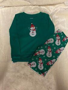 Euc Gymboree boys Christmas snowman pajamas size 7
