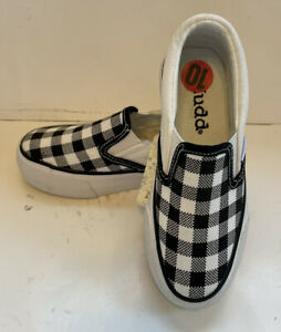 Mudd Youth Slip On Sneaker Shoes Checker Plaid NEW Sz 10 Toddler