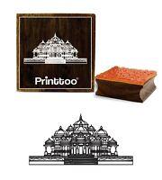 Printtoo Platz Akshardham Tempel-Muster Aus Holz Stempel Craft Textile