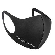 Personalised Face Mask Custom Printed Your name/ any text/logo Reusable/washable