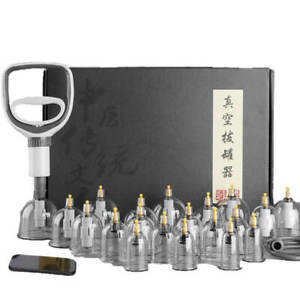 Professional Acupoint Cupping Set, 4th Generation Pump Gun & Cups (24 Cups)