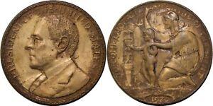 1920 Philippines Wilson So-Called Dollar/ Medal ~ Bronze ~ HK-450 Salvaged ~ X59