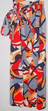 """Vintage 19 0000039E 70's Women's Long Skirt Blue Red White Gold Geometric Small 25"""""""