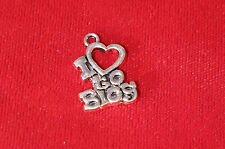 """5pc """"I love to blog"""" charms in antique silver style (BC864)"""
