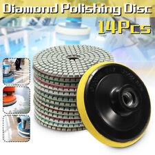14pcs 4'' Wet Dry Diamond Polishing Pads Set Kit For Granite Concrete Marble