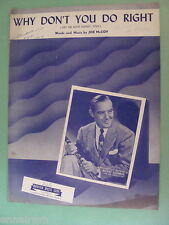 Benny Goodman Why Don't You Do Right Get Me Some Money Too 1942 by Joe McCoy