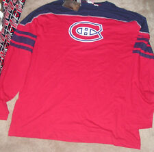 NEW NHL Montreal Canadiens Long Sleeve L/S T Shirt 2XL XXL Men  NEW NWT