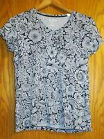 Croft & Barrow Classic Tee Women's Medium floral cotton ss shirt