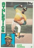 FREE SHIPPING-MINT-1984 Topps #493 Mike Norris Athletics