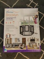 Dream baby Brooklyn Convertable Playpen Gate with mesh sides- Play Pen Xra-Wide