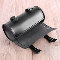 Motorcycle PU Leather Saddlebag Roll bag Storage Tool Pouch   9B