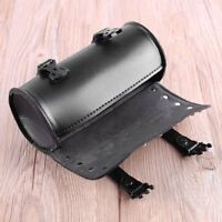 Motorcycle PU Leather Saddlebag Roll bag Storage Tool Pouch   gr