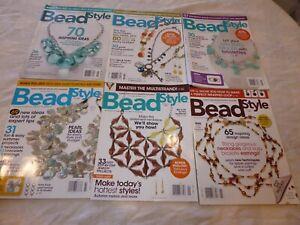 6 2009 BEAD STYLE MAGAZINES: JAN, MARCH, MAY, JULY, SEPT, NOV BEADING IDEAS!