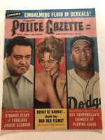 1958 Police Gazette BROOKLYN DODGERS Roy CAMPANELLA Will He Play? Jackie GLEASON