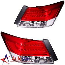 New Set of 2 Rear Led Brake Tail Lights For 2008-2012 Honda Accord 4 Door Sedan