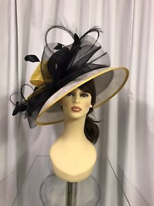 Snoxell & Gwyther Hatinator, Wedding Occasion, Formal Races Black/White/Yellow