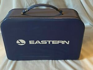 Vintage Eastern Airlines Stewardess Small Vinyl Travel Carry-on Suitcase