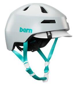 Bern Brentwood Fahrradhelm Urban Commuter Helm Large (59-62cm) Cool Grey Türkis