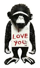 Street Monkey I Love You Keep It Real, Art sculpture by Van Apple