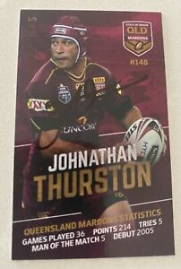 JOHNATHAN THURSTON SIGNED STATE OF ORIGIN TRADING CARD