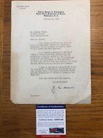 J. Edgar Hoover - Typed FBI Special Agent DOJ Letter Signed 10/19/39 PSA/DNA COA