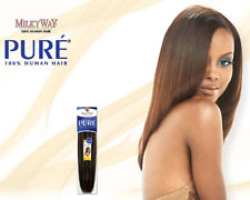 "PURE YAKY WEAVE BY MILKYWAY 100% HUMAN HAIR EXTENSION 14"" #1"