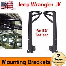 "52"" LED Light Bar Windshield Upper Mount Brackets For 2007-2017 Jeep Wrangler JK"